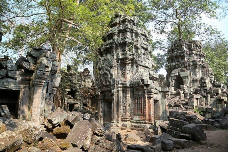 Angkor Thom tempelkomplex i Siem Reap, Cambodja arkivbild
