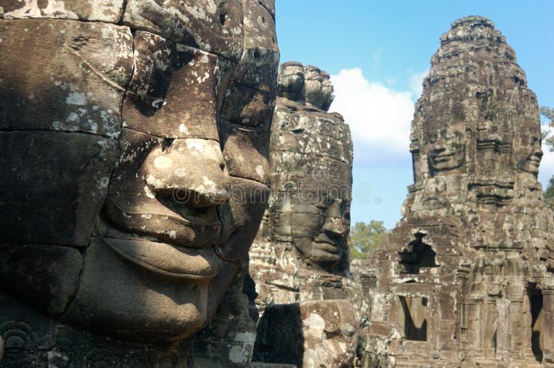 Angkor Thom: Temple of Bayon stock image