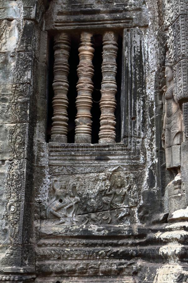 Angkor Thom Angkor Wat, Cambodja fotografering för bildbyråer