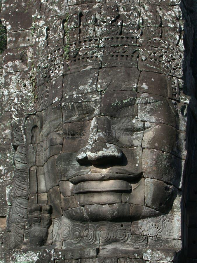Download Angkor twarz zdjęcie stock. Obraz złożonej z skały, buddhism - 37692