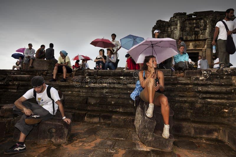 Angkor välde cambodia arkivbilder