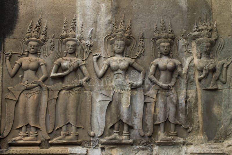 Angkor Vat caché antique photographie stock