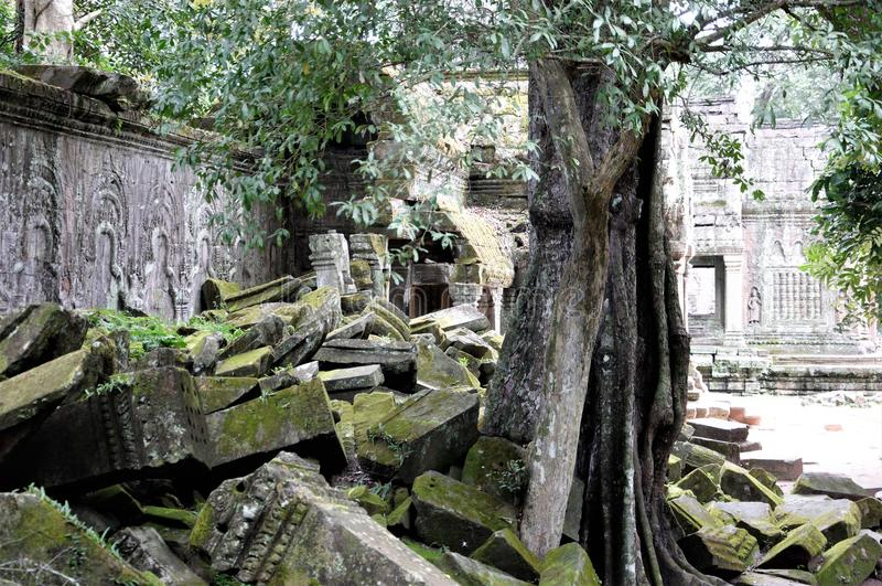 Angkor Vat, complexe géant de temple hindou de Cambodiaa au Cambodge, consacré au dieu Vishnu photo libre de droits