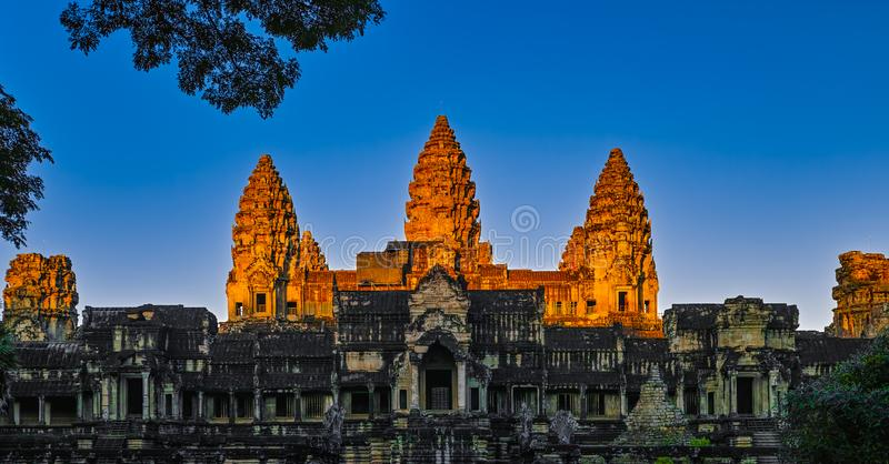 Angkor Vat d'or photos stock