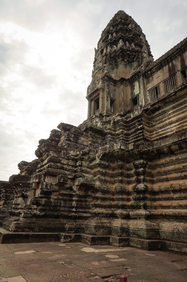 Angkor Vat est un site de Herutage du monde de l'UNESCO depuis 1992 Célèbre pour lui procédé de construction du ` s et peintures  photographie stock