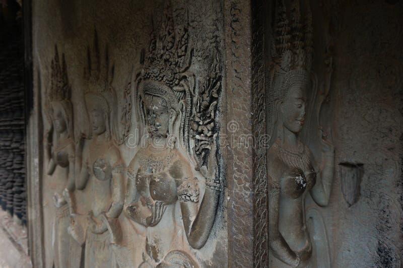 Angkor Vat est un site de Herutage du monde de l'UNESCO depuis 1992 Célèbre pour lui procédé de construction du ` s et peintures  photos libres de droits