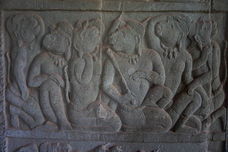Angkor Vat est un site de patrimoine mondial de l'UNESCO depuis 1992 Célèbre pour lui procédé de construction du ` s et peintures photographie stock