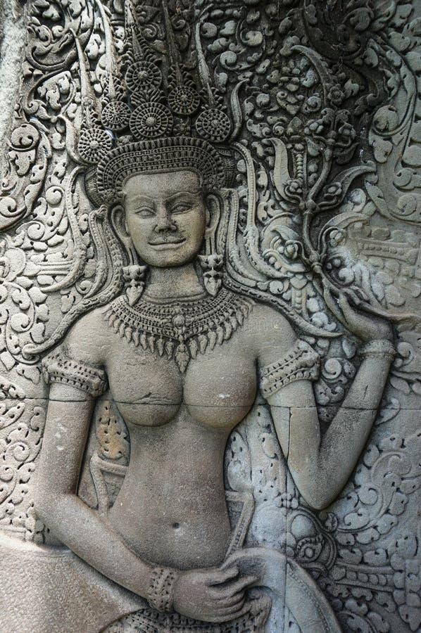 Angkor Vat est un site de patrimoine mondial de l'UNESCO depuis 1992 Célèbre pour lui procédé de construction du ` s et peintures photos libres de droits
