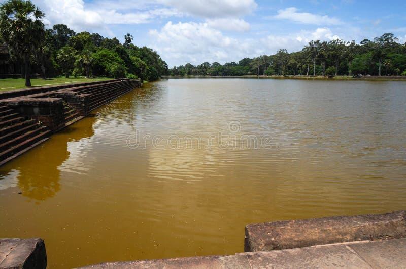 Angkor Vat est un site de patrimoine mondial de l'UNESCO depuis 1992 Célèbre pour lui procédé de construction du ` s et peintures photo stock