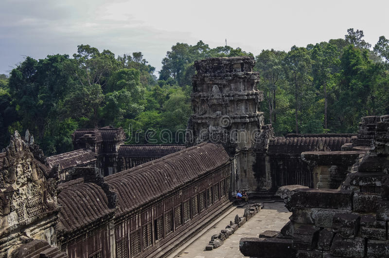 Angkor Vat - temple de Khmer dans la province de Siem Reap, Cambodge, sud images libres de droits