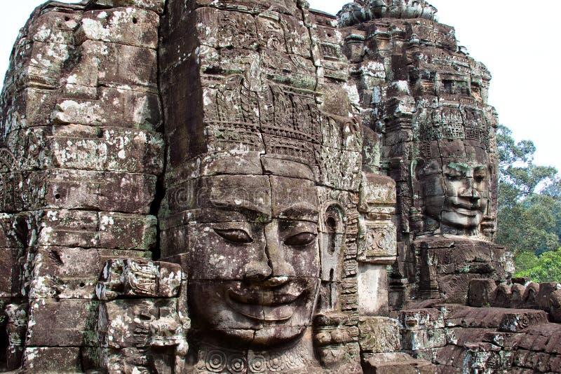 Angkor Wat, πρόσωπο ναών στοκ εικόνες