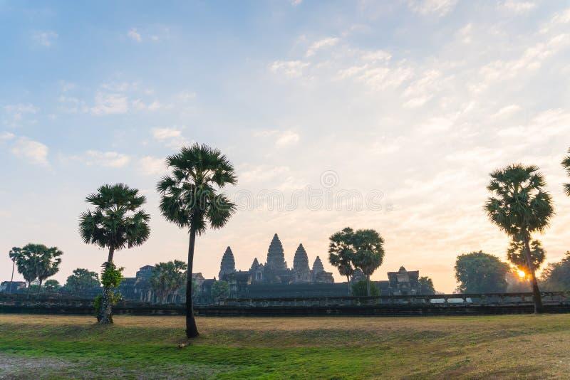 Angkor Wat в утре на Siem Reap Камбодже стоковая фотография rf