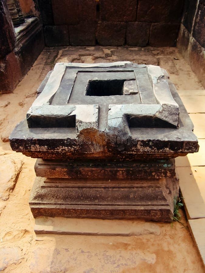 Angkor Wat, Banteay Srei świątynia -, Shakti Yoni obrazy stock