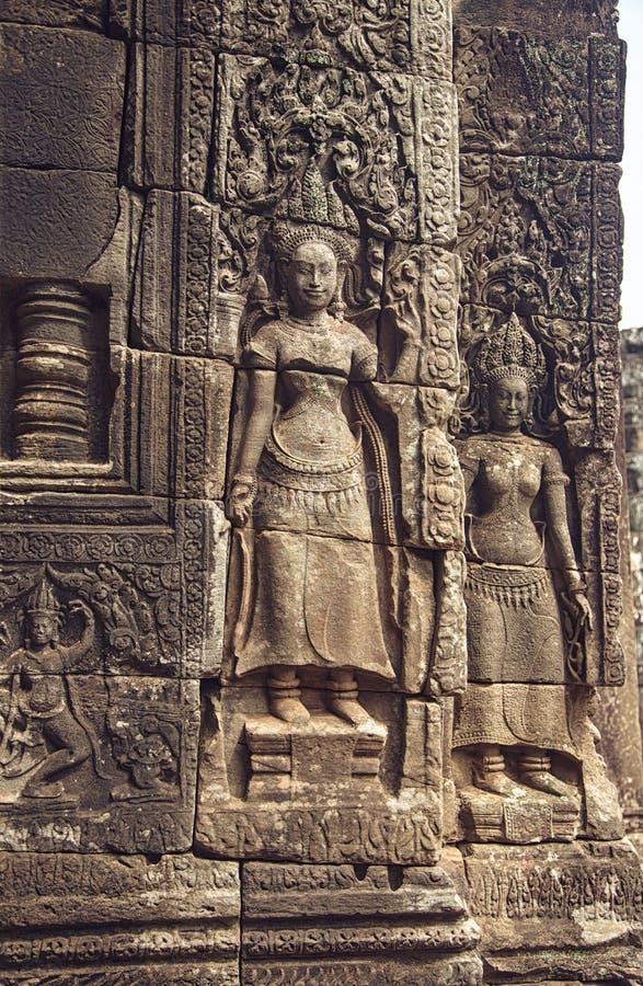 Angkor Wat - Bas Relief royalty-vrije stock afbeeldingen