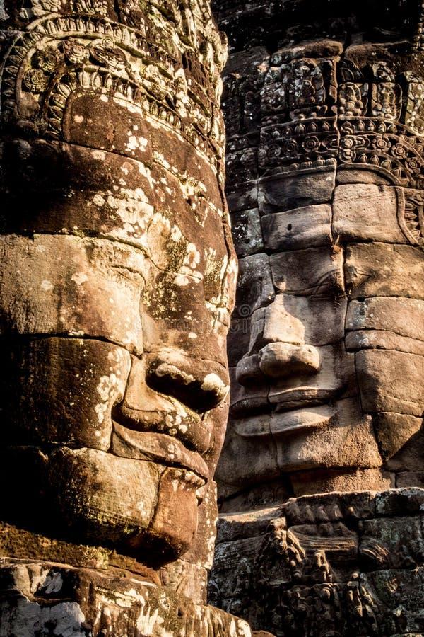 Angkor Wat Bayon, Cambodja fotografering för bildbyråer