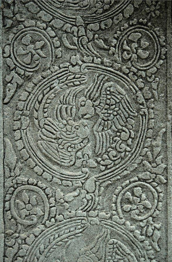 Angkor Wat Bayon Totem of Mythical Love Birds royalty free stock image