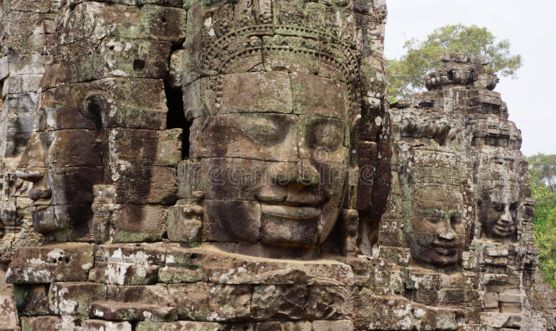 Angkor Wat Buddha faces royalty free stock images