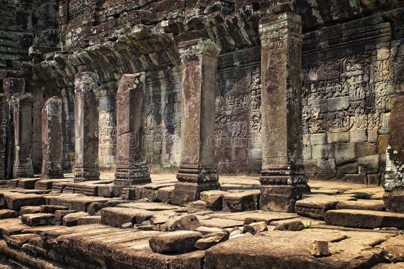 Angkor Wat Cambodia et grands piliers photos stock