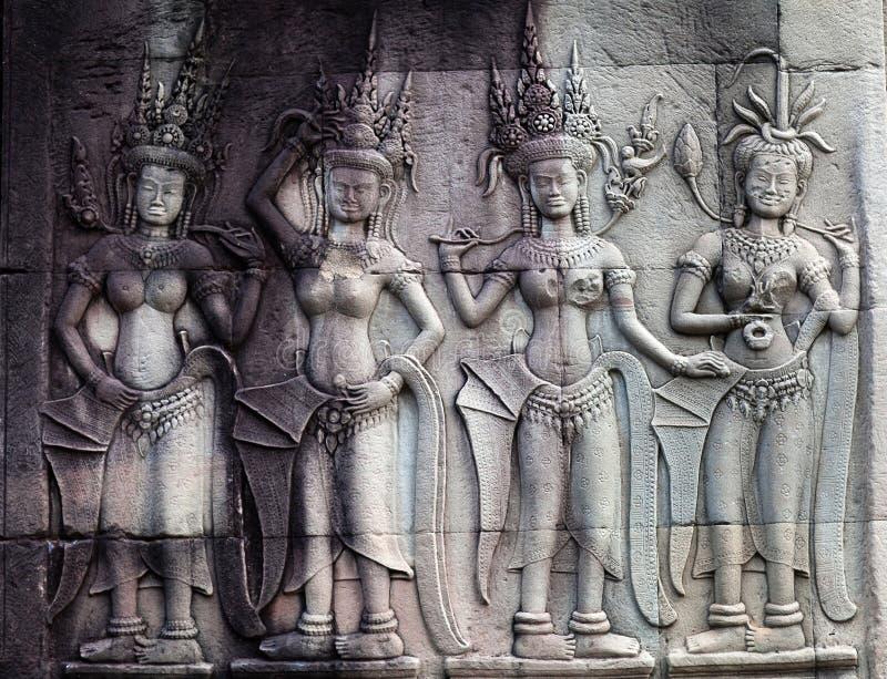 Angkor Wat, Cambodja fotografering för bildbyråer