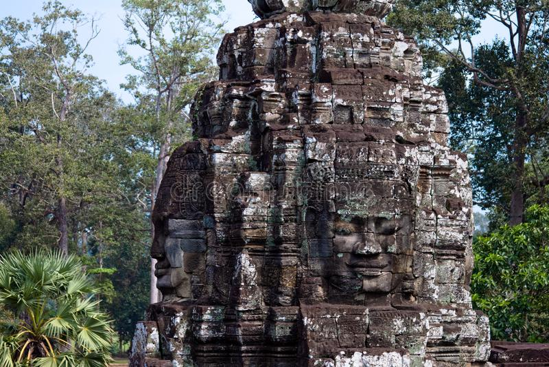 Angkor Wat, cara del templo imágenes de archivo libres de regalías