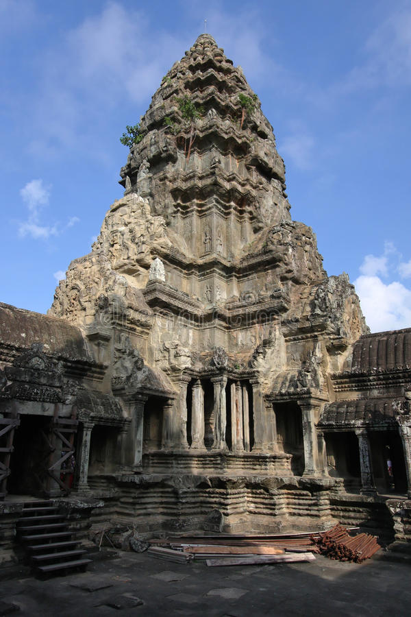 Download Angkor Wat central tower stock photo. Image of siem, cambodian - 28491822