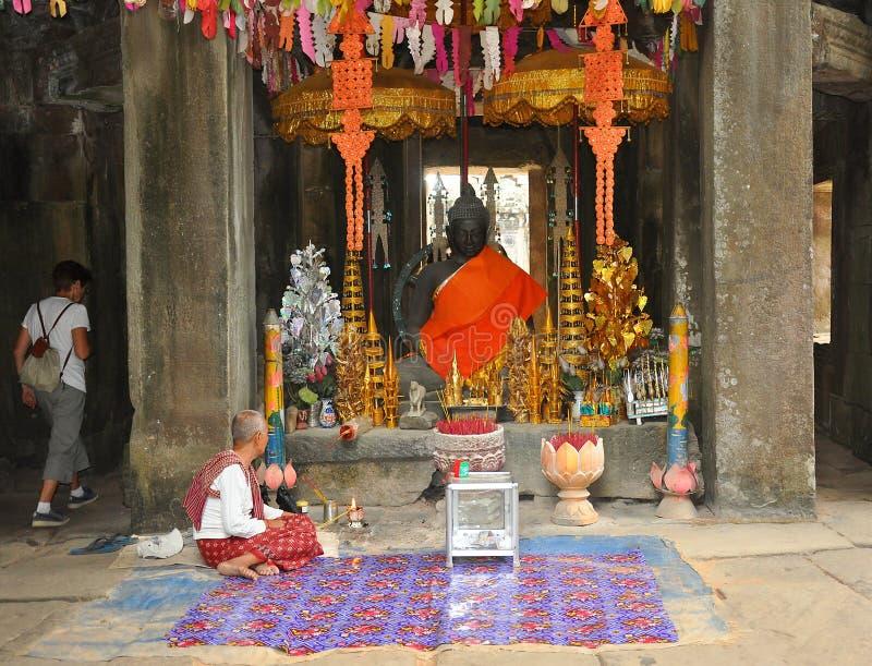 Angkor Wat das Haus des Buddhas stockbild