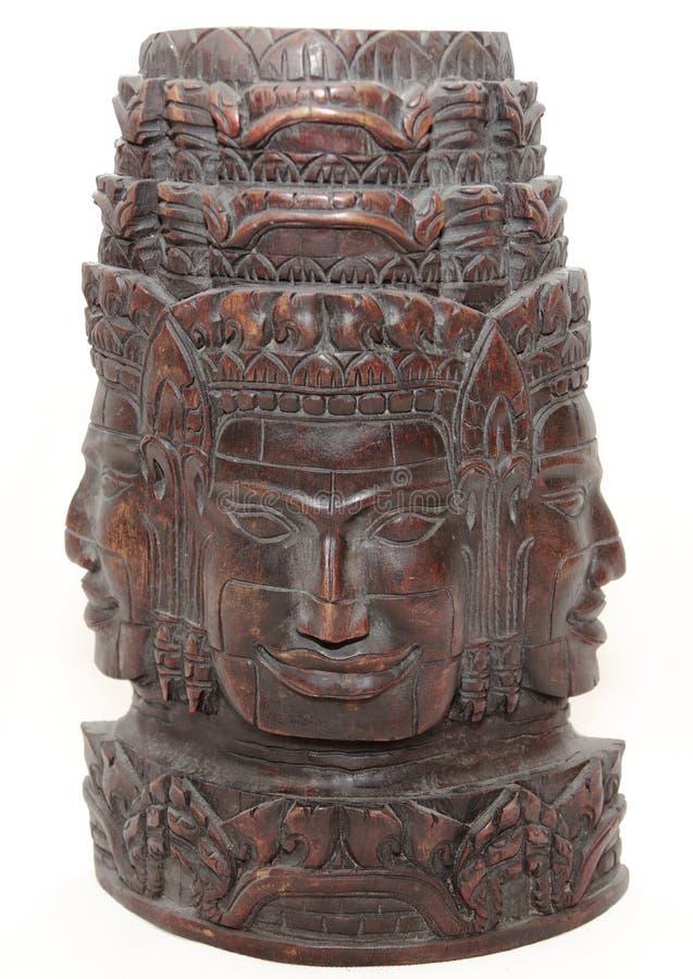 Angkor Wat Hand geschnitzte Statue stockbilder