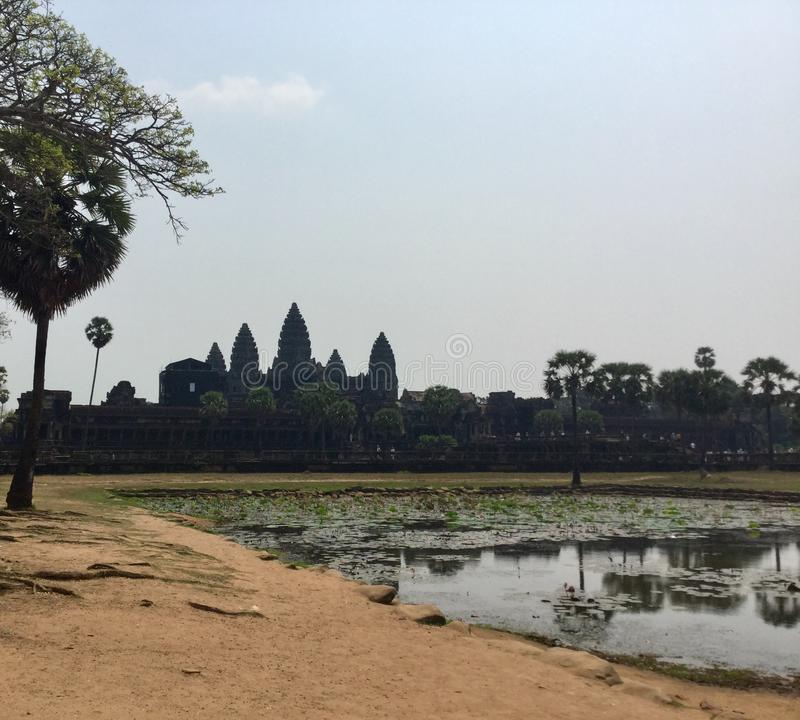 Angkor Wat . Hindu Temple . Siem Reap. Cambodia. Angkor Wat is a temple complex in Cambodia and the largest religious monument in the world. ] It was originally royalty free stock image