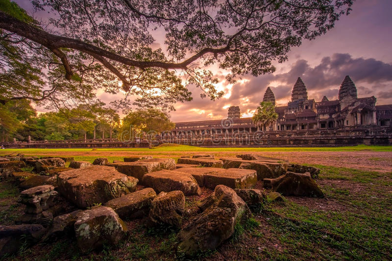 Angkor Wat Kambodja royalty-vrije stock fotografie