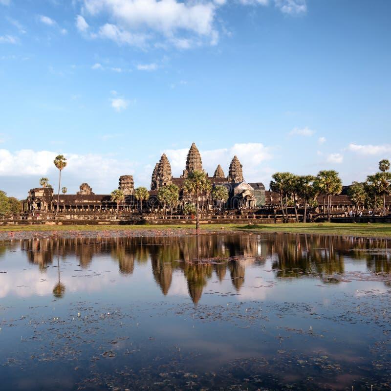 Angkor Wat Kambodja De Khmer tempel van Angkorthom royalty-vrije stock afbeelding