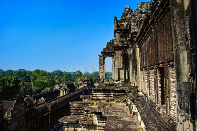Angkor Wat kambodja Oude Architectuur royalty-vrije stock fotografie