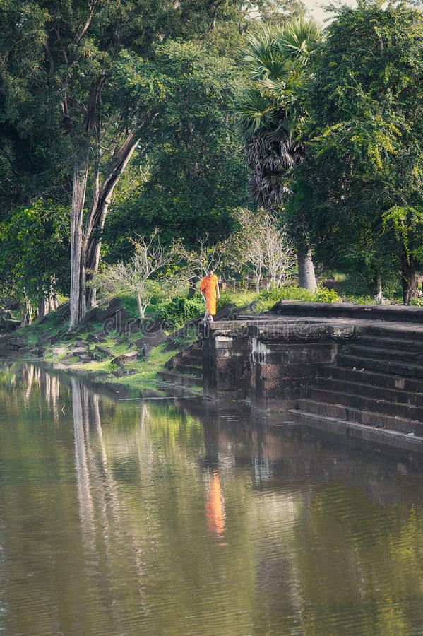 Angkor Wat munk arkivfoto