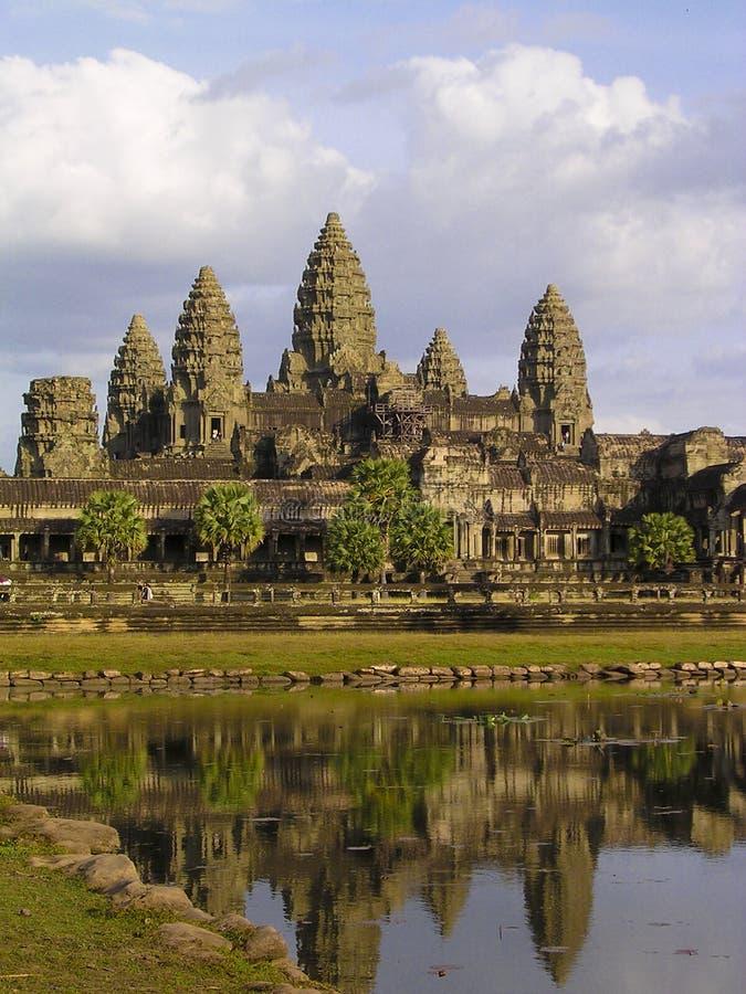 Angkor wat reflection royalty free stock images
