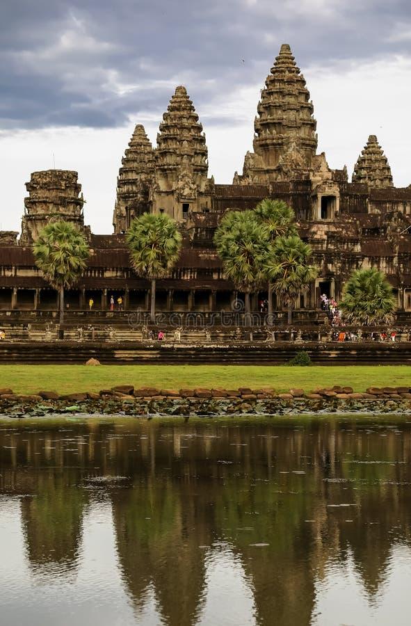 Angkor Wat Reflection Pool photo stock