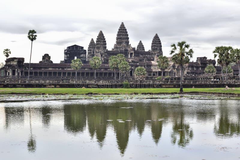 Angkor Wat Reflexion stockbilder