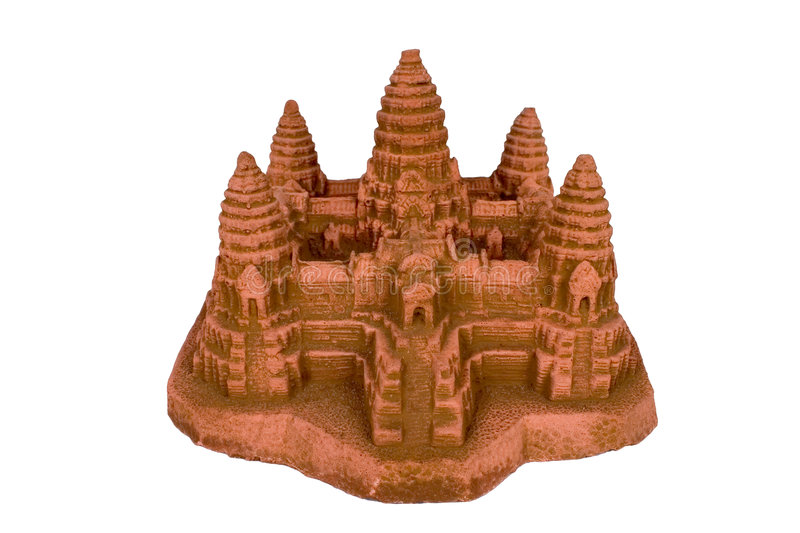 Download Angkor Wat Replica With Clipping Path Stock Photo - Image: 1228054