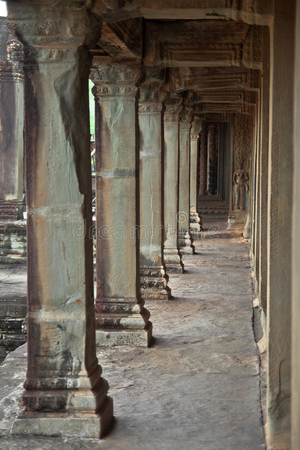 Angkor Wat ruins in the jungle. stock photography