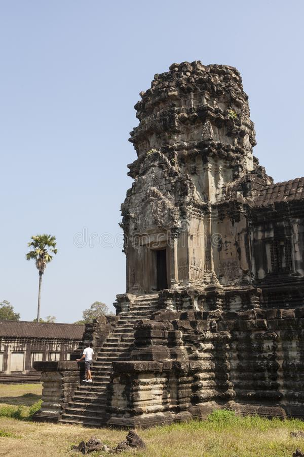 Angkor Wat ruiny w Kambodża obrazy royalty free