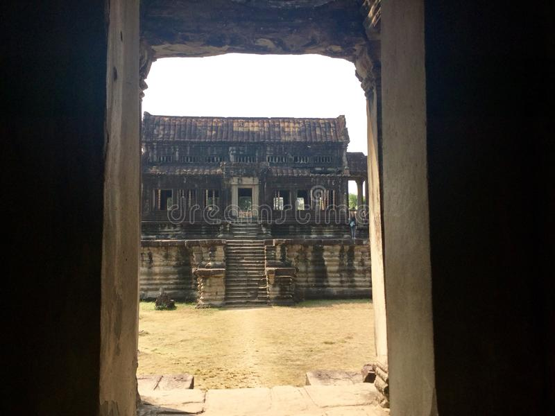 Angkor Wat. Siem Reap. Cambodia. Angkor Wat is a temple complex in Cambodia and the largest religious monument in the world. ] It was originally constructed as royalty free stock photos