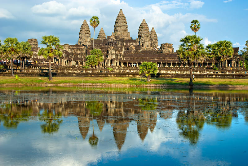 Angkor Wat, Siem Reap, Cambogia. fotografia stock libera da diritti