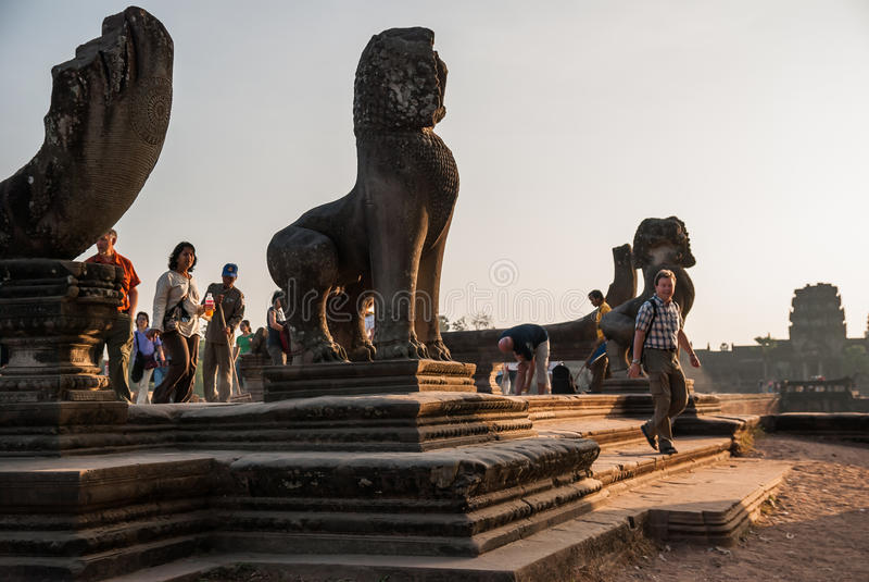 Angkor Wat, Siemreap, Camboja fotografia de stock