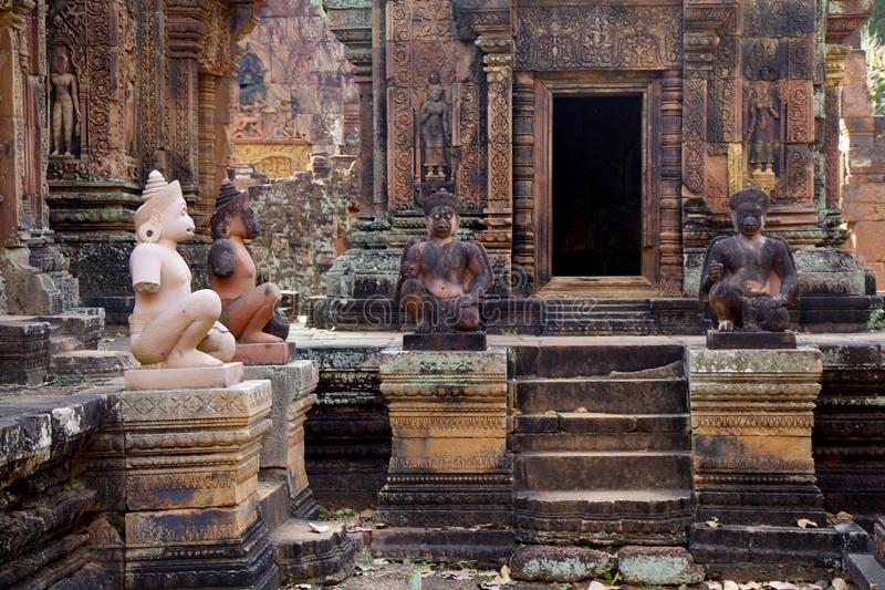 Angkor Wat Statues royalty free stock photos