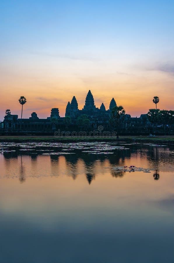 Angkor Wat Sunrise Reflection, Cambodia royalty free stock photo
