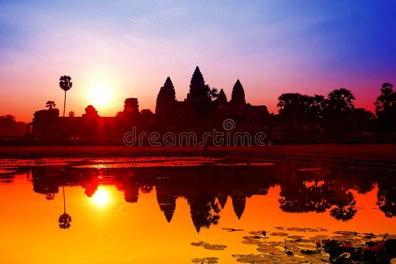 Angkor Wat sunrise at Siem Reap. Cambodia royalty free stock photography