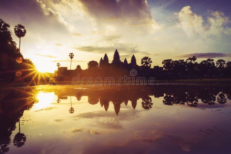 Angkor Wat sunrise at Siem Reap. Cambodia and Angkor Wat stock images