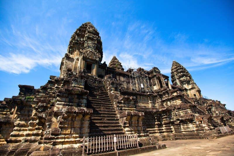 Angkor Wat - symbol Kambodża obrazy royalty free