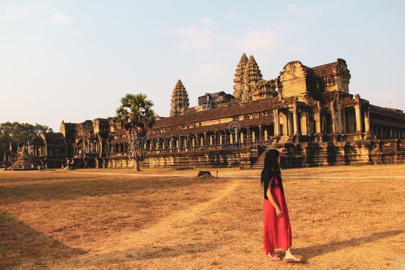 Angkor Wat tempel i Siem Reap royaltyfria foton