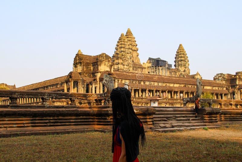 Angkor Wat tempel i Siem Reap fotografering för bildbyråer
