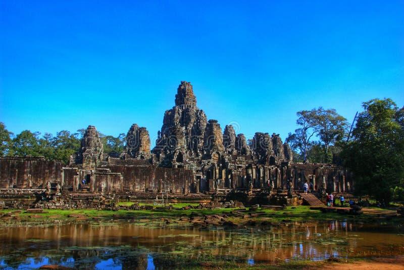 Angkor Wat tempel - Siem Reap, Cambodja arkivbild