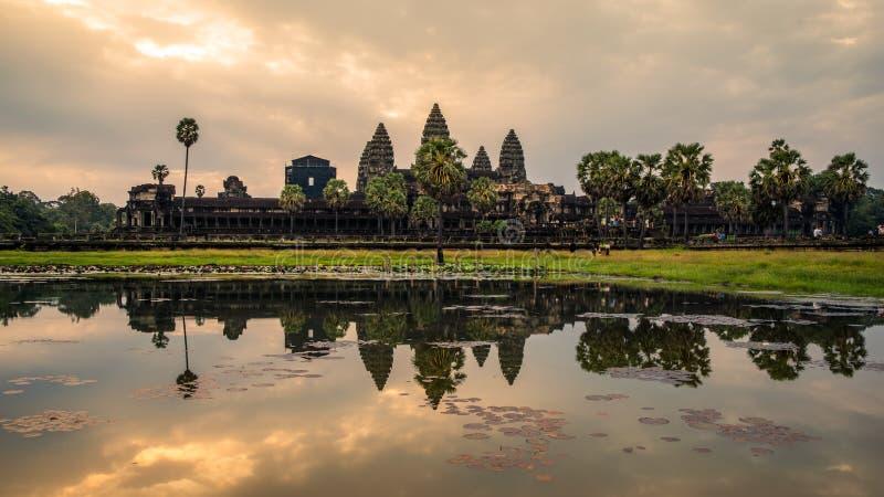 Angkor Wat tempel Siem Reap Konungariketet Kambodja arkivfoton